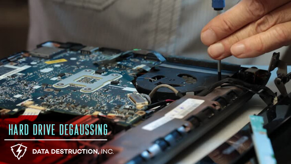 Data destruction and hard drive shredding