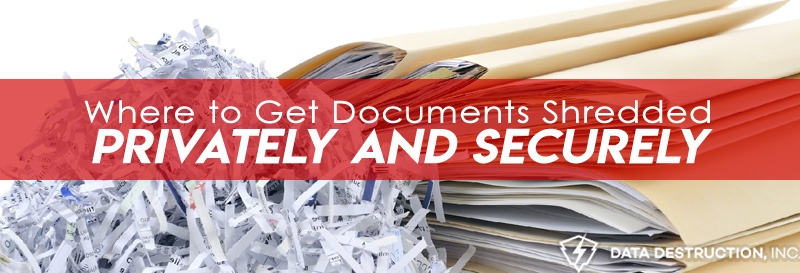 Where to get documents shredded title